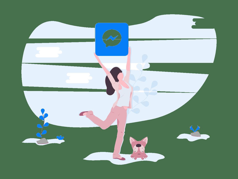 Outil d'assistance pour fournir une assistance avec Facebook Messenger