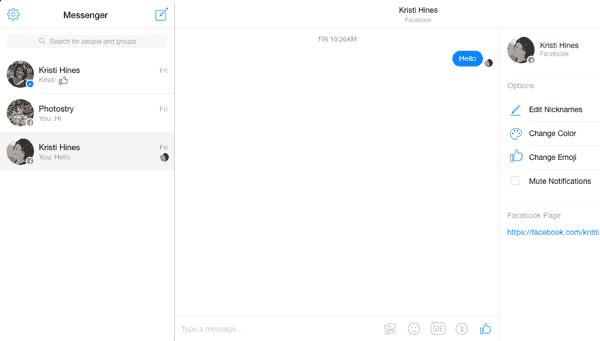 Outil Messenger pour le service clientèle