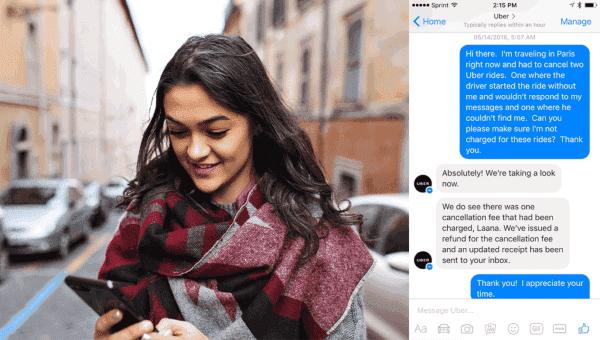 Como gerenciar solicitações de suporte por meio do Messenger