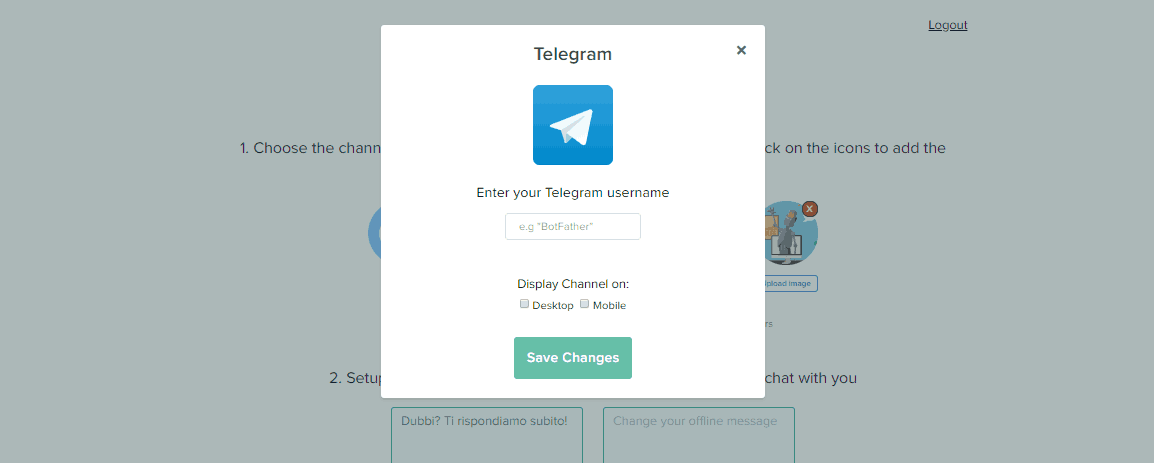 Como integrar o Telegram ao widget de chat do Callbell