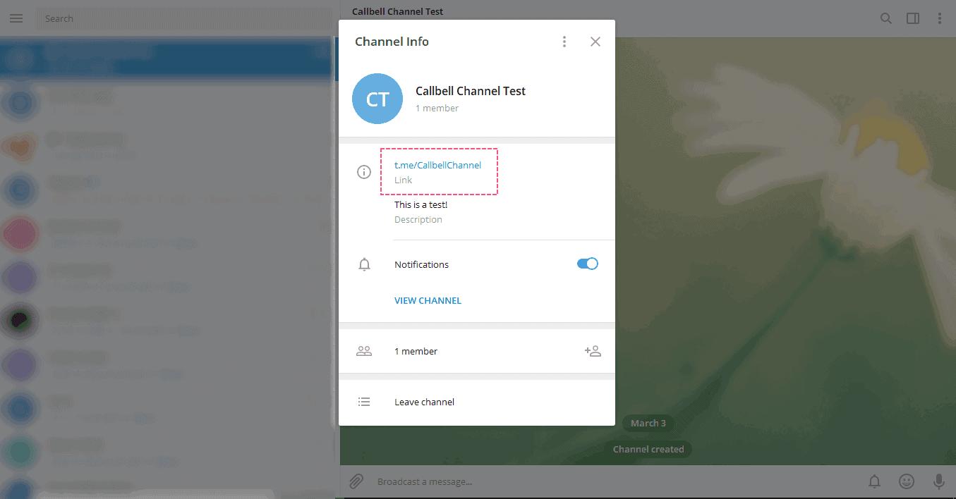 Integrare link per unirsi a gruppo telegram