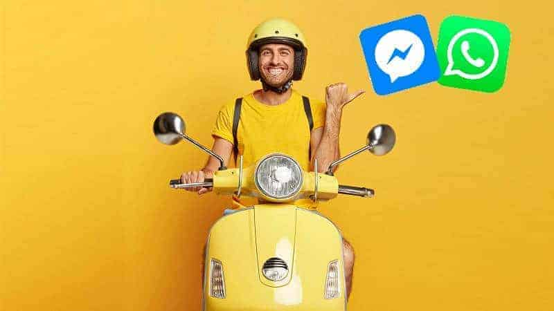 How to use WhatsApp and Messenger in the delivery industry