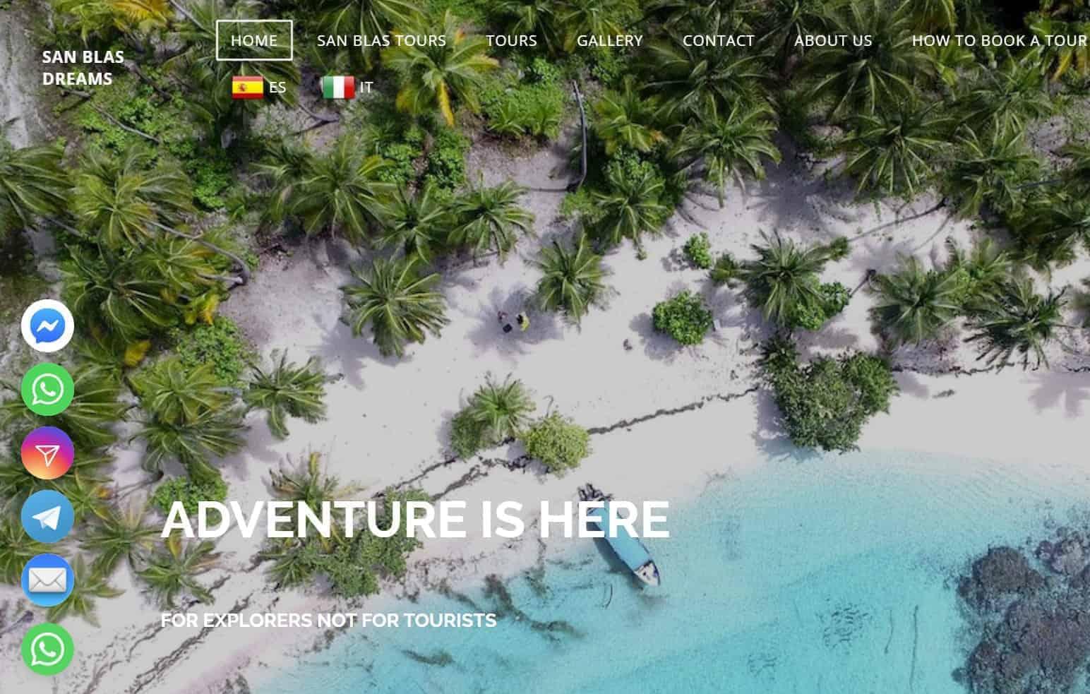 Widget display on the website