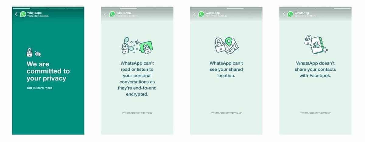 WhatsApp's new terms of use
