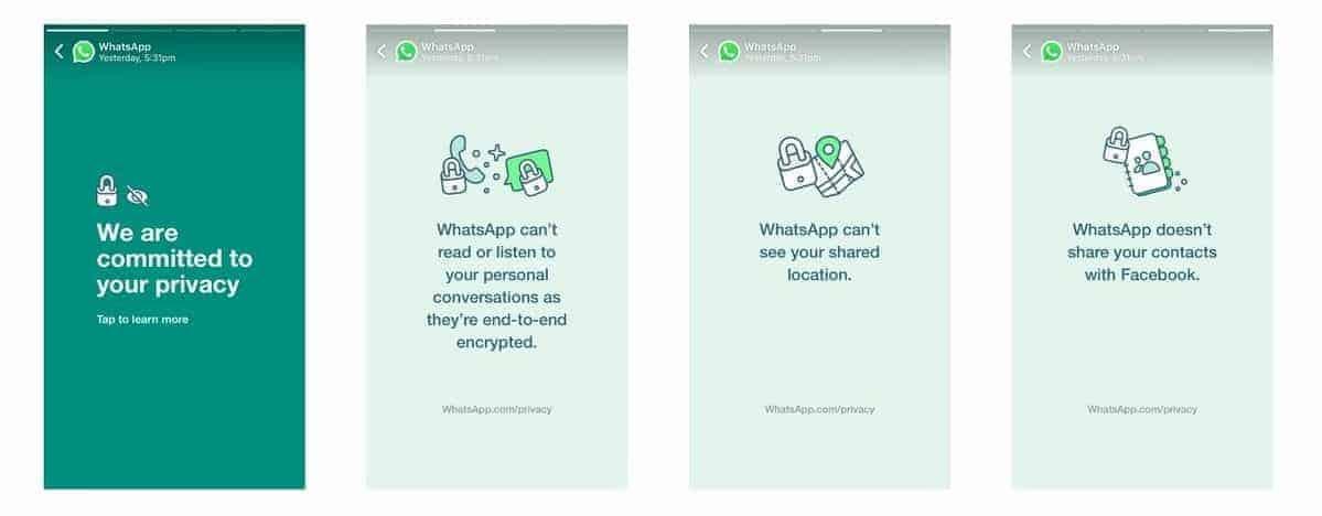 Nuevos términos de uso de WhatsApp