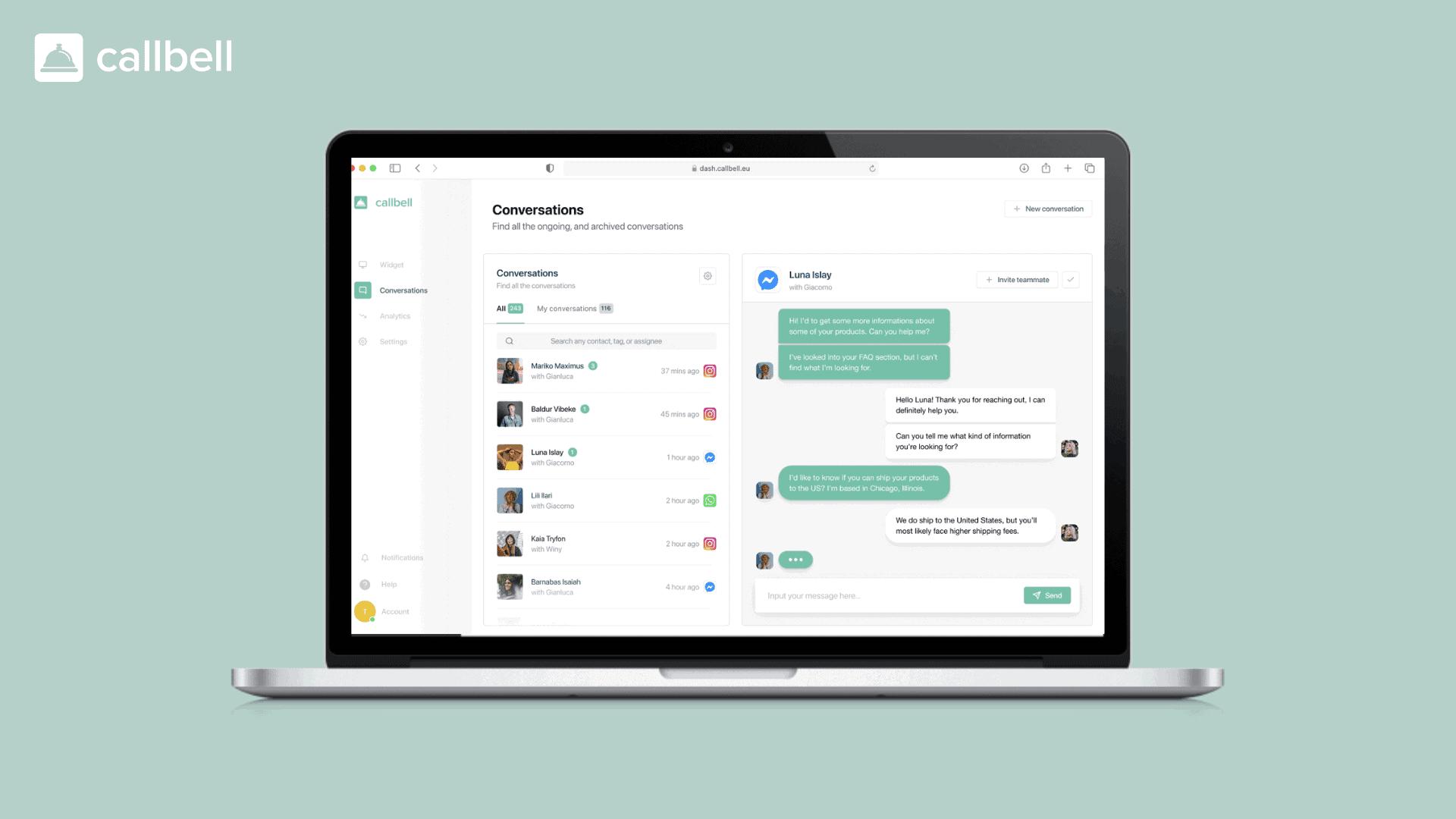 As APIs do WhatsApp Business integradas na plataforma Callbell