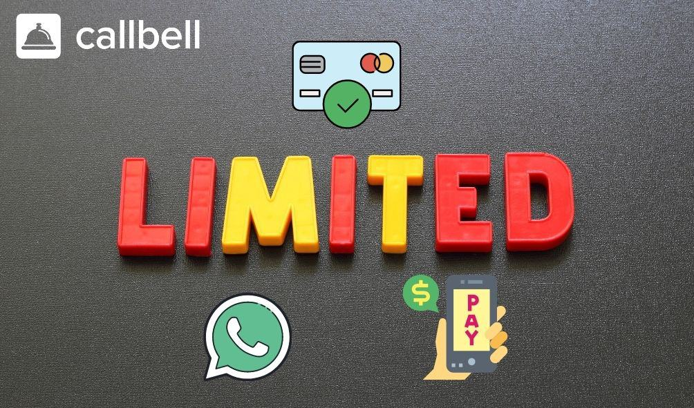 What are the limits for WhatsApp payments?