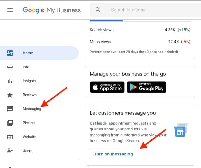 Google My Business messages: here's how to activate them