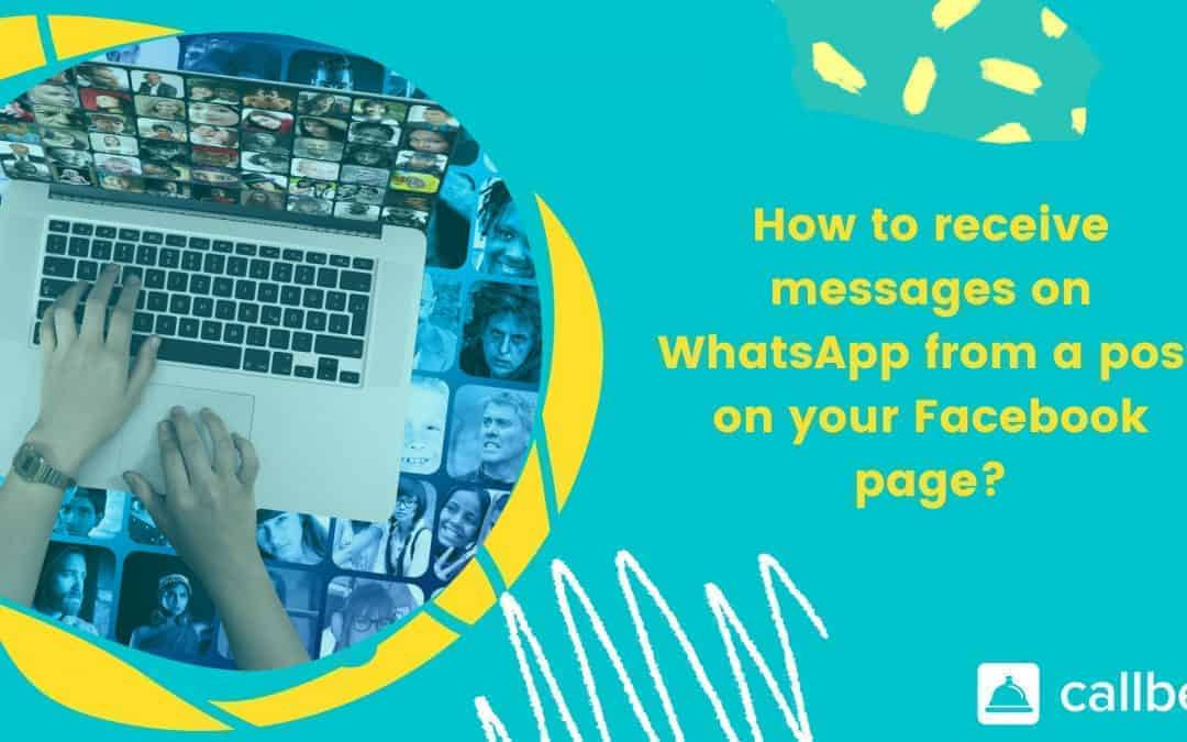Receive messages on WhatsApp starting from Facebook