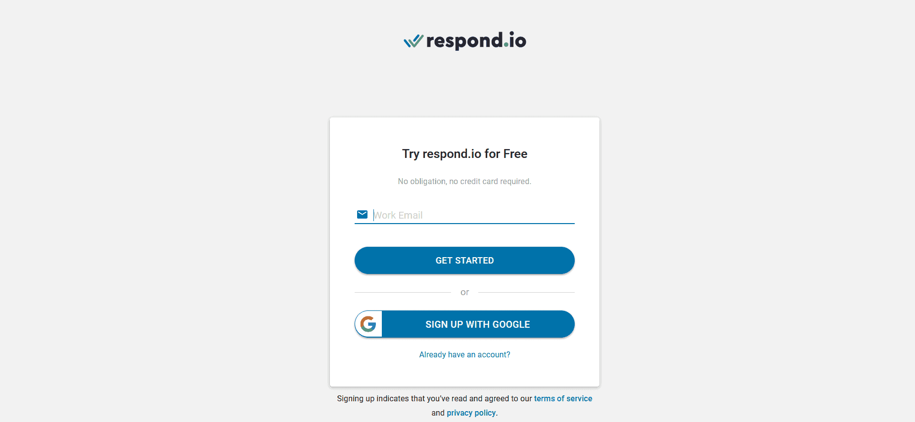 How to register on Respond.io