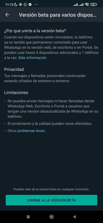 Come funziona il WhatsApp Web su 4 schermi?