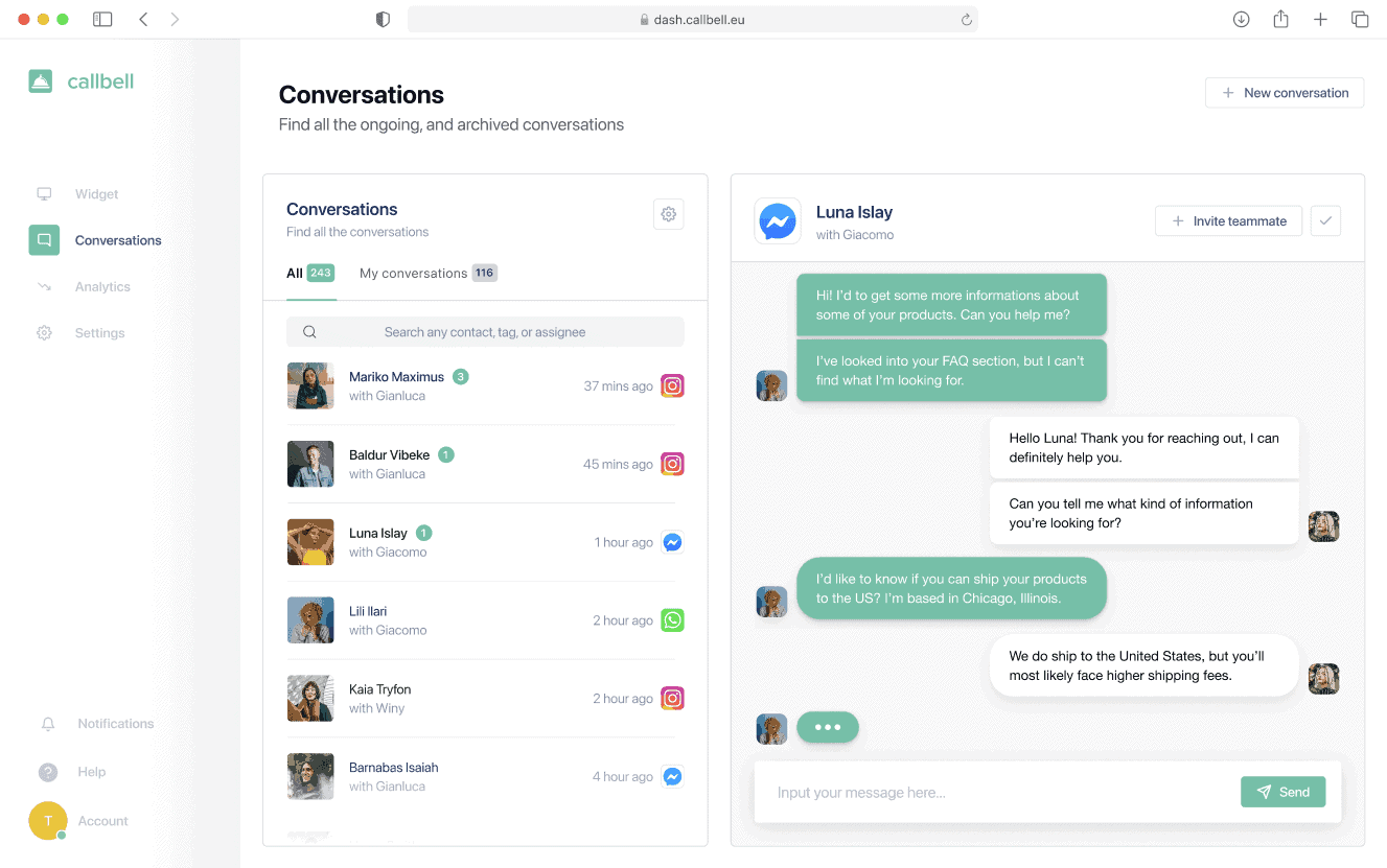 Generate leads on WhatsApp with Spotify